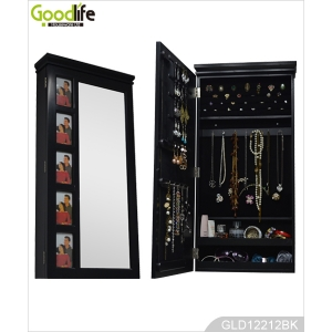 Popular Wooden Mirrored Jewelry Cabinet For Jewelry Holder