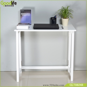 Portable household adjustable height and folded folding computer desk with flat rolling wheels for couch floor kids