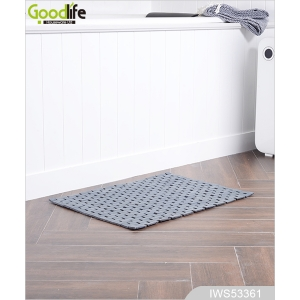 Practical Solid Teak Wooden Bath Mat IWS53361