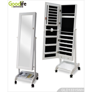 Removable jewelry cabinet bedroom furniture GLD13315R