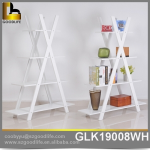 Save space corner wooden almirah designs corner shelf GLK19008