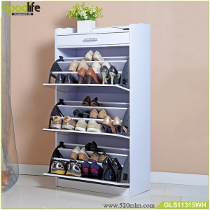 Saving space wooden shoe cabinet