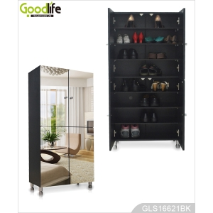 Shoe cabinet wholesale 4 mirror door cabinet for shoe organizer