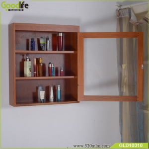 Solid mahogany wood wall mounted bathroom cabinet storage cabinet from China supplier GLD10010
