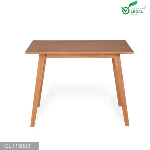 Solid rubber wood nail table  multifunction dining table space saving