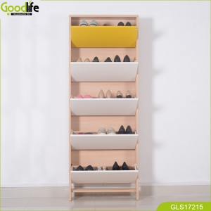 Space saving 5 layers shoe cabinet Guangdong furniture wholesale good quality