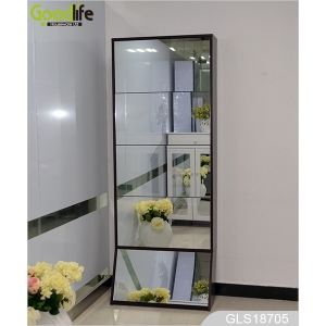 Space saving shoe cabinet with full length mirror import furniture GLS18705