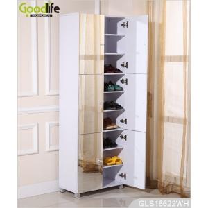 platzsparende aufbewahrung schuhschrank spiegel mit 8 stufen. Black Bedroom Furniture Sets. Home Design Ideas