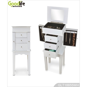 Standing jewelry makeup storage cabinet GLD18855