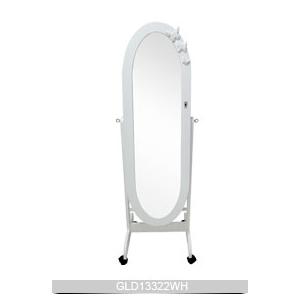 De pie ovalado espejo de tocador de madera con armario de for Espejo ovalado de pie