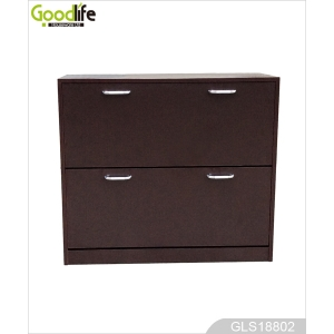 Storage and organizer shoe with two rotatable shelves GLS18802