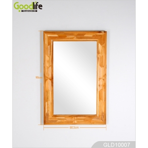 Teak wall mirror GLD10007