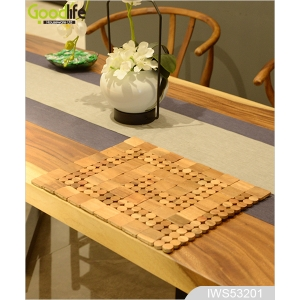 Teak wood door design  mat for bathing safety IWS53201