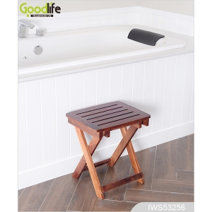 Teak wood door design  mat for bathing safety IWS53256