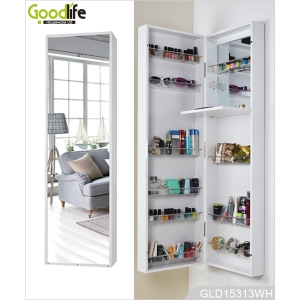 Wall mirror and mirrored furniture Guangdong wooden makeup cabinet