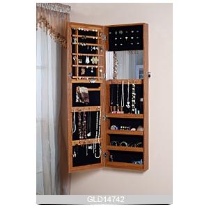 Plancher en bois permanent cabinet de bijoux mirrored - Portascarpe da appendere ...