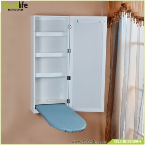 Wall mount  ironing board cabinet with mirror