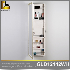 Wall mount make up cabinet with full  length mirror stroage many things GLD 12142