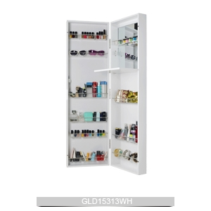 Wall Mounted Or Hanging Over The Door Mirrored Makeup Cabinet For Bedroom Bathroom And Living Room