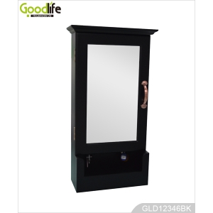 Wall mounted wooden key cabinet GLD12346C