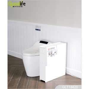 Wholesale Wooden Toilet Floor Cabinet with Drawers for Storage   GLT18820