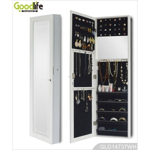 Wholesale furniture china wooden mirror jewelry armoire with multi function design