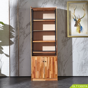 Wholesale household living room wooden storage furniture high quality with metal conversion shelf