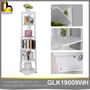 Wooden home furniture book shelf for reading home GLK19007.