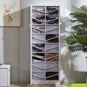 Wholesales wooden mirror shoe cabinet inside with active laminate for storage modern newly design.