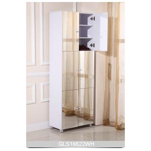 wooden mirrored 6 door shoe cabinet with 9 layer shelves. Black Bedroom Furniture Sets. Home Design Ideas