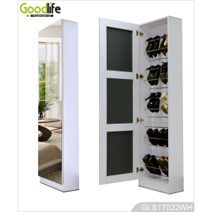 Wooden Shoe Organizing Cabinet with Full Length Mirror GLS17022