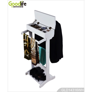 Wooden Valet stand Coat Rack GLD14316