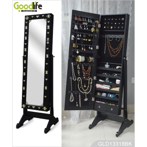 Wooden furniture factory china jewelry armoire with DIY acrylic