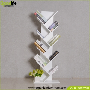 Wooden home furniture book shelf for reading home GLK19007