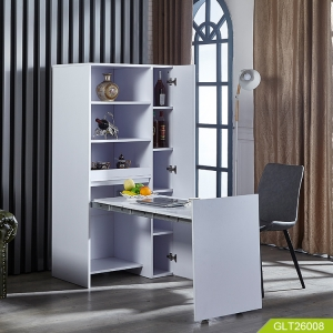 Wooden storage cabinet for living room and kitchen
