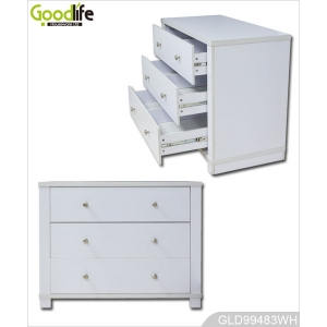 Wooden storage cabinet wardrobe with 4 drawers GLD99483