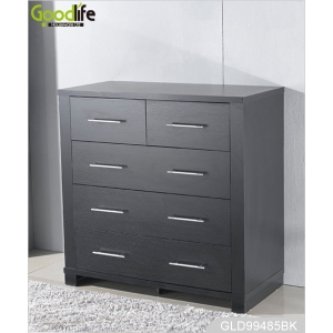 Wooden storage cabinet wardrobe with 5 drawers GLD99485