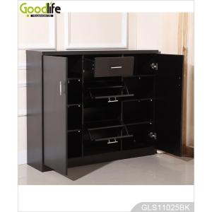 Wooden storage cabinet with shoe rack for living room GLS11025