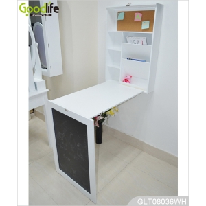 Wooden Wall Mounted Drop Leaf Table With Blackboard Glt08036