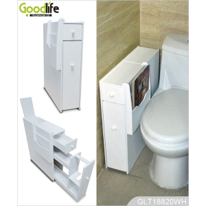 corner cabinet wooden living room furniture with bathroom cabinet use for toilet paper and magazines