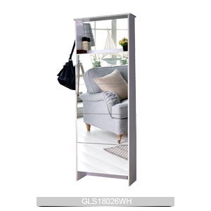China f brica de zapatos armario zapatero con espejo de for Armario alto zapatero con espejo