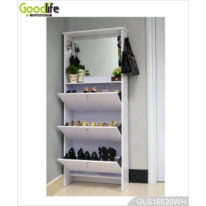 ikea style multiple function wooden storage cabinet for shoes GLS16620