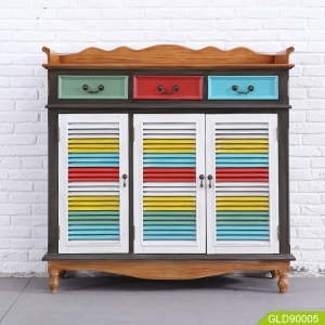 multi-functional cabinet with American style painting GLD90005