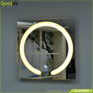 new arrival intelligent touch switch makeup mirror with light GLD10001