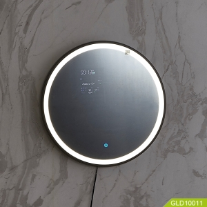 smart led mirror with bluetooth speaker for bathroom and bedroom