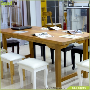solid wood dining table set wooden base for dining table GLT13016