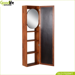 wall mounted teak wood bath cabinet GLB17020TW