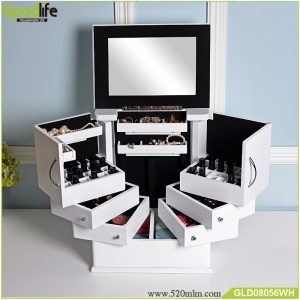 wholesale furniture wooden makeup dresser with mirror jewelry cabinet makeup box jewelry box