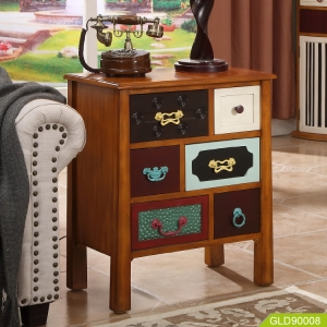 wooden American style painting kitchen storage cabinet design GLD90008