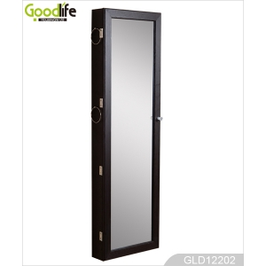 wooden over the door jewelry armoire mirror cabinet GLD12202